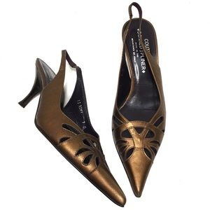 Donald J Pliner Couture Romy Bronze Slingbacks
